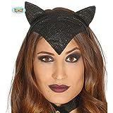 Katzenohren Tiara - schwarz - Catwoman Diadem Kätzchen Kopfschmuck Haarreifen Katze Katzenkostüm Zubehör Katzen Haarreif