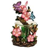 Schmetterling und Blumen Polyresin Elektrische Tart Öl/Rückenwärmer von Obi