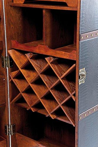 Kare Design Schrankkoffer Bar Colonial, Barkoffer im Kolonialstil, Braun (H/B/T) 154x61x61cm - 5