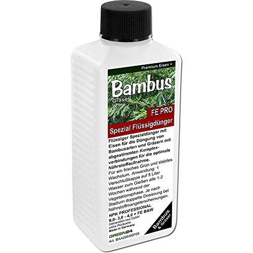 Spezial Bambusdünger FE PRO Premium NPK Dünger flüssig, Bambus Pflanzen und Gräser düngen