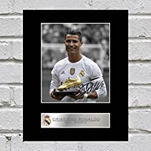Cristiano Ronaldo Signed montiert Foto Display Real Madrid