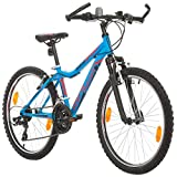 BIKE SPORT LIVE ACTIVE Jungenfahrrad 24 Zoll Bikesport MISTIQUE Mountainbike Fully Shimano 18 Gang (Blau)