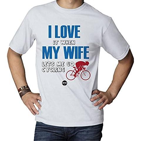 Camiseta divertida camiseta de ciclismo para ciclismo ciclista de él, regalo de cumpleaños, día del padre, Kepster, Blanco, mediano