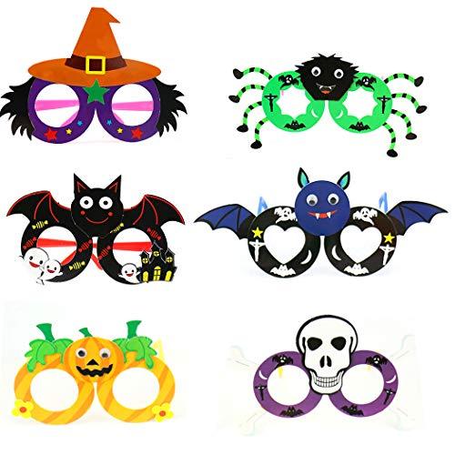 FunPa 6 Paare Halloween Brille Party Gläser DIY Sortiert Lustige Gläser Mitbringsel Gläser (Paare Lustig Halloween-kostüm Für)