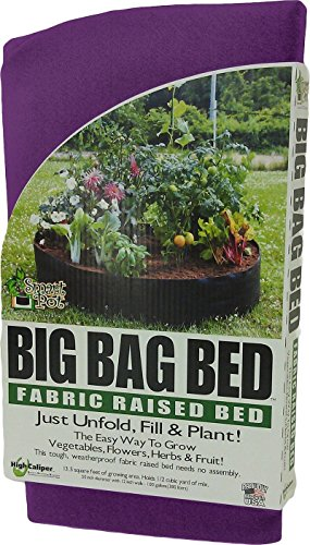 Smart Pot machen Fall Big Bag Stoff Hochbeet Weiche Seiten Behälter zersetzung Pflanzgefäß Garten Töpfe (Original 127x 30,5cm), Violett