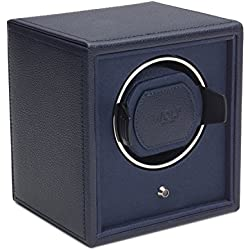 Wolf Cub Single Navy Leather Watch Winder
