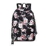 Rucksack für Mädchen, Mode Florale Hochschule Taschen Schüler Schule Rucksack Reisen Daypacks 14