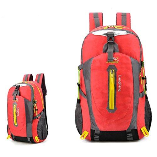Männer Wandern Rucksack Wochenende Pack Cover Für Camping Reisen Wandern Rucksack 30 Liter Rot