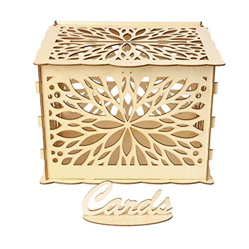 YoungerY DIY hochzeitsgeschenk Blume Holz Karte Geld Box Fall mit Schloss rustikal schöne Geburtstagsfeier bevorzugt Dekoration liefert