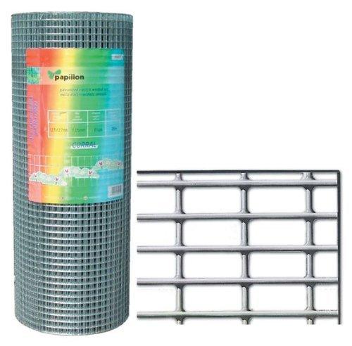 Papillon 1200804 - Grillage galvanisé clôture pour Animaux MT 1 x 25 diamètre 0,80 mm