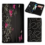 Rhinestone Flip Book-Style Flip Case Photo Skin Case Cover