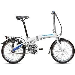 """Dahon Curve D3 Bicicleta Plegable, Unisex Adulto, Blanco Frost, 20"""""""