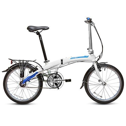 Dahon Curve D3 Bicicleta Plegable, Unisex Adulto, Blanco Frost, 20'