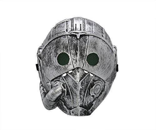 (Komonee Steampunk Cyborg Silber Erwachsene Halloween Maske (5 Stück) (HM4))