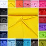 MAGAM-Stoffe ''Micha'' Interlock Jersey Uni | 20 Farben | 100% Baumwolle Öko-Tex Qualität | Meterware ab 50cm (02. Gelb)