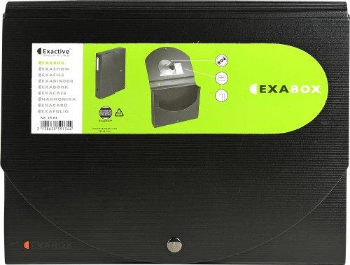 Preisvergleich Produktbild Exacompta 59134ME Archivbox (Exabox Exactive, PP, Rücken 60 mm, DIN A4, aufgebaut geliefert) Schwarz