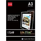 RTL49–10hojas x A3–PREMIUM iluminación papel/Lite de pantalla para luz LED bolsillo, Lightbox, luz paneles tanto para copiadoras láser y impresoras de inyección de tinta