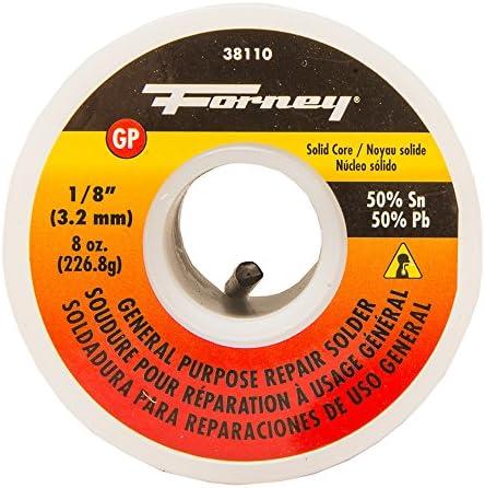 Forney Solid Wire 50 50 Tin Tin Tin Lead, 1 20,3 cm, 38110 | Conosciuto per la sua eccellente qualità  | Lavorazione perfetta  | In Uso Durevole  d05b8e
