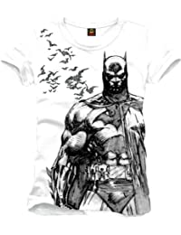 Batman Bat Fly Camiseta Blanco
