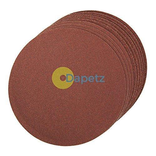 daptez® selbstklebend Schleifscheiben 150mm 10Stück Körnung 80Aluminium-Oxid