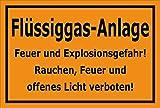 Melis Folienwerkstatt Aufkleber – Flüssiggas-Anlage - 15x10cm – S00054-E - 20 Varianten