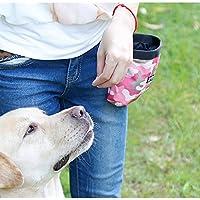 UEETEK Bolsa de entrenamiento para perros, bolsa de entrenamiento de Oxford, bolsa de alimentos para maletas bolsa de cintura para los perros que caminan (rosa)