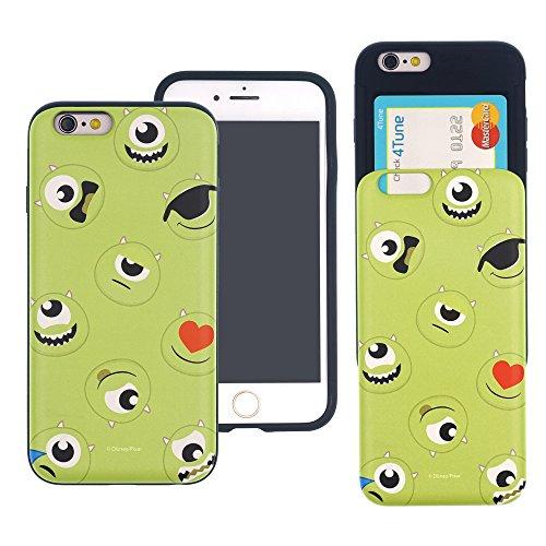 iPhone 6S Plus/iPhone 6Plus Case Disney Cute Monsters University Slim Slider Cover: Kartenschlitzen Stoßdämpfung Dual Layer Bumper für [iphone6s Plus/iPhone 6Plus] Fall, Pattern Mike (iPhone 6S PLUS / iPhone 6 PLUS)
