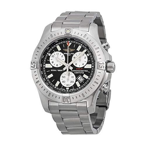 Breitling Colt Cronógrafo Negro Dial Acero inoxidable Acero Mens Reloj a7338811-bd43ss