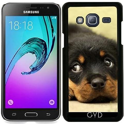 Hülle für Samsung Galaxy J3 2015 (SM-J310) - Hund Tier Freund Welpe Niedlich by Grab My Art