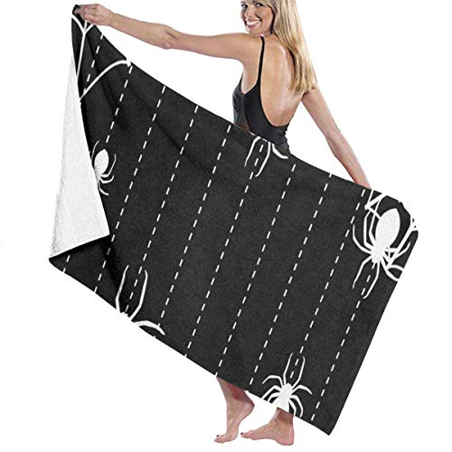 xcvgcxcvasda Serviette de bain, Spider White Personalized Custom Women Men Quick Dry Lightweight Beach & Bath Blanket Great for Beach Trips, Pool, Swimming and Camping 31