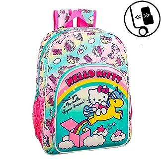 Hello Kitty 611916185, Candy Unicorns Mochila infantil adaptable a carro, Multicolor, 26 x11 x 34cm