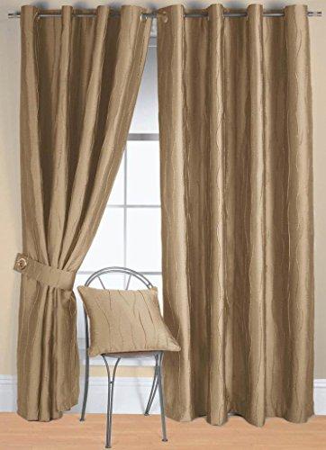 Elegance Beige Solid 3 Door Curtains