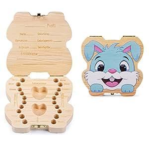 ELENKER Aufbewahrungsbox für Kinder Baby Zähne Milchzähne Box Geschenk für Kinder