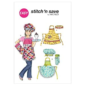 M6587 Kids' Aprons, Hat, Head Band and Mitt, All Sizes
