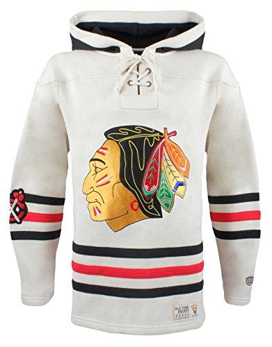 Old Time NHL Herren Kapuzenpullover Vintage Lacer Heavyweight, Herren, Stone, X-Large -