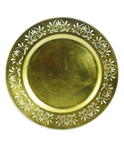 Krippe Antik (Galileo Casa Antik Platzteller, Melamin, Gold, 33x 33x 2cm)