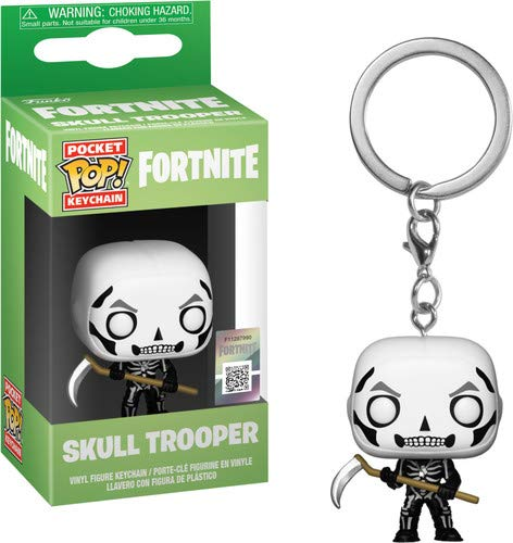 Funko 36952 Pocket POP Schlüsselanhänger: Fortnite: Skull Trooper, Multi