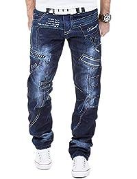 Kosmo lupo Jean pantalon bleu foncé vintage style japonais km261Denim Cargo