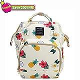 FunnideerBaby Diaper Bag Backpack,Large Waterproof Multi-Function Travel Diaper Bags for Mom and Dad