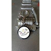 Porte clés 25 mm + prénom Merci Atsem