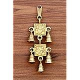 """StonKraft - 15"""" Brass Ganesh Door Hanging - Beautiful Door Knocker/ Door Decor With Brass Bell For Door Decor And Wall Decor"""