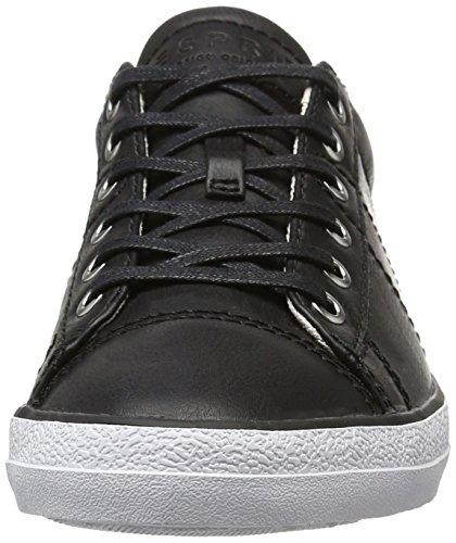 ESPRIT Damen Miana Lace Up Sneaker Schwarz (Black 001)