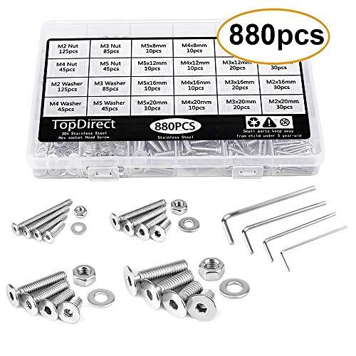 Kit di Fissaggio per Tenda Parasole Kit di Fissaggio per Tenda Parasole M8 HSEAMALL in Acciaio Inox 304
