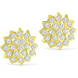 South Jewels Gold Micro Plated American Diamond Stud for Women (SJ_1002)