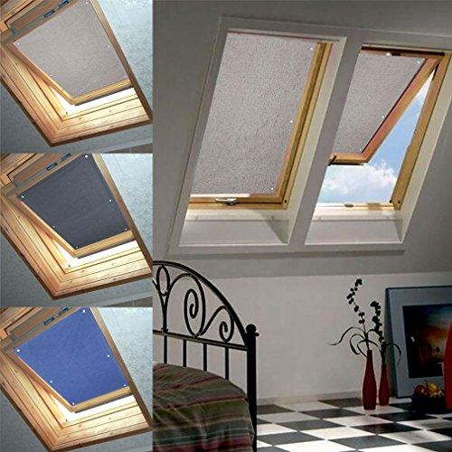 76 * 93cm Beige Dachfenster Rollo Verdunkelung Thermorollo Sonnen & Sichtschutz