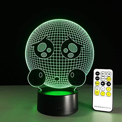 Telecomando pianto viso carino luce notturna visiva stereo pannello acrilico tavolo da pranzo decorazione cambia colore lampada camera da letto