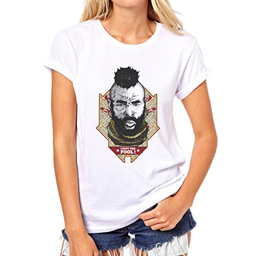 I Pity The Fool Mr T A Team Damen T-Shirt Weiß