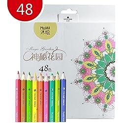 Lapices de Colores Kasimir 48 Lapices Colorear Fijaron con Colores Para Art Major Dibujo Niños Pintura Suministros de Oficina Escuela Adulto para Colorear Libros