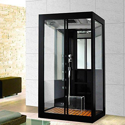 Home Deluxe Black Luxory XL Duschtempel, inkl. Dampfsauna und komplettem Zubehör