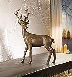bb10 Schmuck Dekofigur Hirsch Dekoration für Weihnachten oder als schönes Geschenk für jeden Tierliebhaber oder Jagdfreund Figur Skulptur auch als Gartenfigur nutzbar